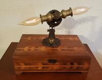 One-of-a-kind Handmade Steampunk Art Stash Box Lamp/Light.  Bensalem