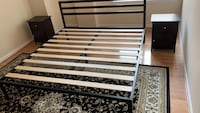 Black king bed frame  Falls Church, 22042
