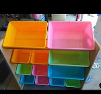 three assorted color plastic containers Oaklawn, 67216