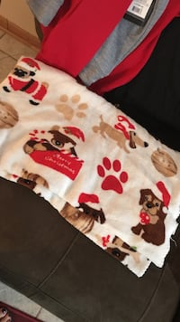 white textile with dog prints Holland charter township, 49424