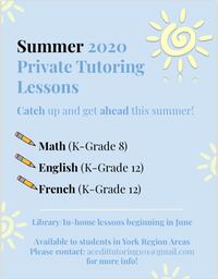 Summer Tutoring Vaughan