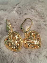 18k GPL Dangle Heart Earrings Nashville