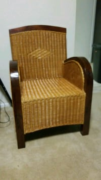1 Wicker Chair Handmade from India. Silver Spring, 20906