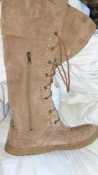 UGG brown leather boots