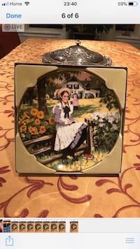 Anne of green gables plate Mississauga, L5H 3P9