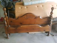 All Wood queen bed frame with head/ foot and side  Wainfleet, L0S 1V0