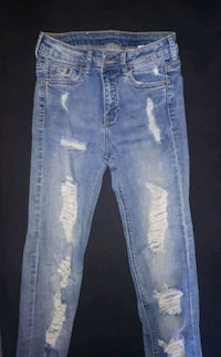 high waisted ripped jeans size 5 Simcoe