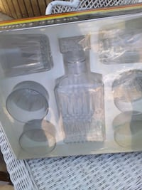 Service Diamant luminarvintage whiskey and set of  Santa Maria
