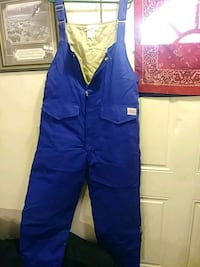 Size 3x blue bibbed insulated
