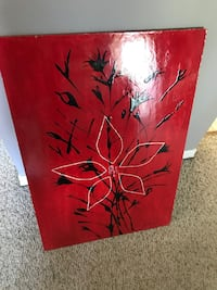red and black abstract painting Montréal, H9J 3L2