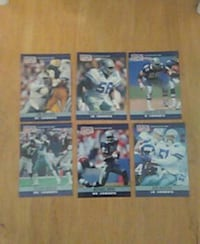 six football trading cards Bremerton, 98310