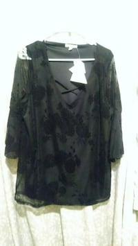 black and gray floral long sleeve dress Gulfport, 39503