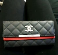 Chanel red and black leather wallet 2670 km