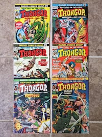 Thongor, Marvel Comics, 6 issues in a row, #24-29 (1973) Charlotte, 28215