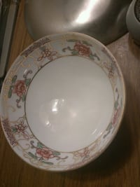 white and green floral ceramic plate Richland Hills, 76118