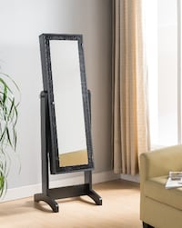 brown wooden framed wall mirror 2052 mi