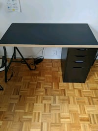 Desk with cabinet