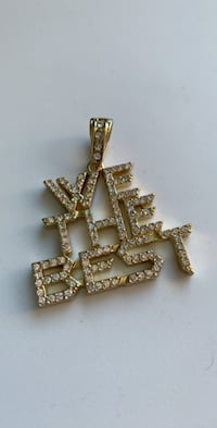 "Iced out ""WE THE BEST"" pendant"