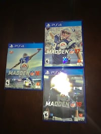 Madden PS4 Bundle (16,17, and/or 18) Martinsburg, 25403