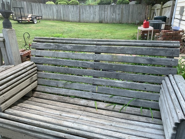 Outdoor benches wood  0d82136d-0621-46d5-bbbf-165291642bb6