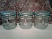 three plastic containers with lid $3.00