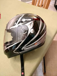 black and gray full-face helmet Pooler, 31322