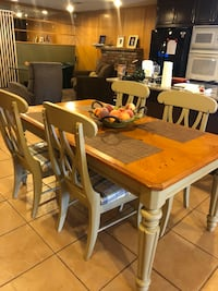 rectangular brown wooden table with four chairs dining set 2333 mi