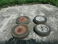 Cart/lawn mower wheels