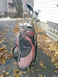 Taylor made golfing bag with clubs included 283 mi
