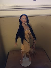 Native American Glass Doll Collectible