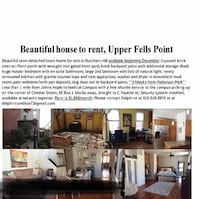 HOUSE For rent 2BR 2BA Baltimore