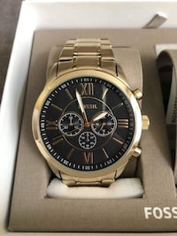 Fossil His and Her Chronograph Gold-Tone Watch Gift Set Markham, L3P