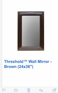 Brown wooden framed mirror Washington
