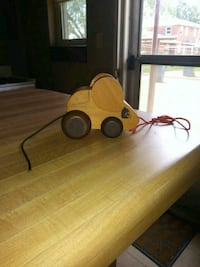 Vintage(70's) Primative Wood Pull Along Mouse
