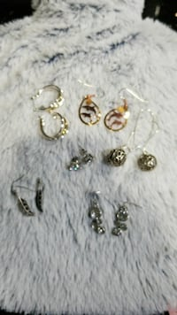 6 pairs of earrings.  5 of them never worn. Victoria, V9B 0A4