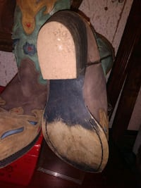 BROWN, TAN, AND TEALE DAN POST COWGIRL BOOTS SIZE 5.5 MORE LIKE 7 Norfolk