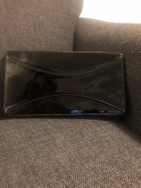 *used* black faux patent leather clutch Toronto, M5V 3Y5