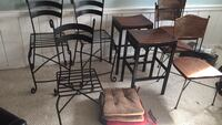 Barstools chairs metal wrought iron chairs stools