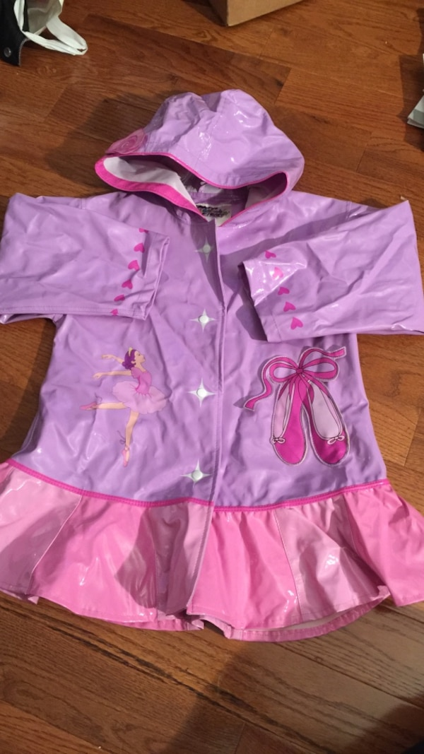 7ab4847bd Used pink and purple rain jacket size 5/6 for sale in New York - letgo