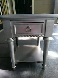 Silver end table or nightstand Duluth, 30096