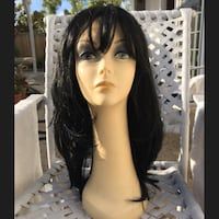 """Brand New High End Synthetic Fiber Wig 18"""" Natural Black Jamul, 91935"""