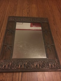 Mirror rectangular elephants brown  metal Waterbury, 06710