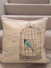 Birdcage Print Throw Pillow Chicago, 60607