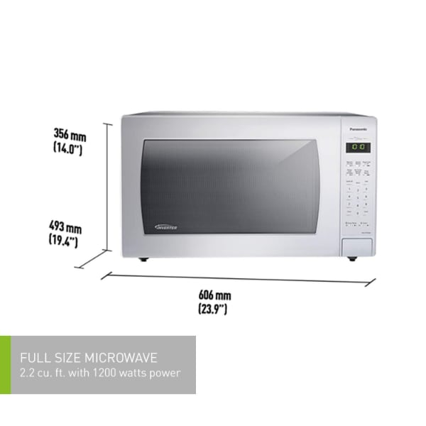 Panasonic NNST966W Full Size, 2.2 cu. ft. 1200W Microwave Oven, White