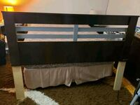 black and brown wooden bed frame Montreal, H4N