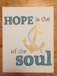"""Canvas """"Hope is the Anchor of the Soul"""" Home Decor Sign Dearborn, 48124"""