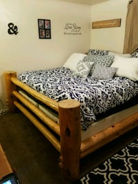 King size rustic log bed frame  Clearfield, 84015