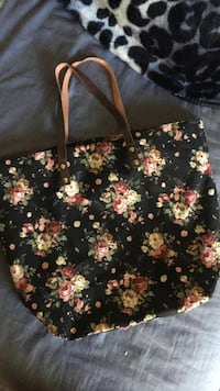 black and yellow floral print tote bag Ceres, 95307