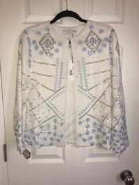 White sequin beaded jacket - small Edmonton, T6V 1S7