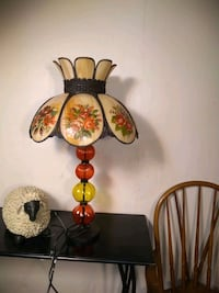 Shag Glass Lamp with glass base